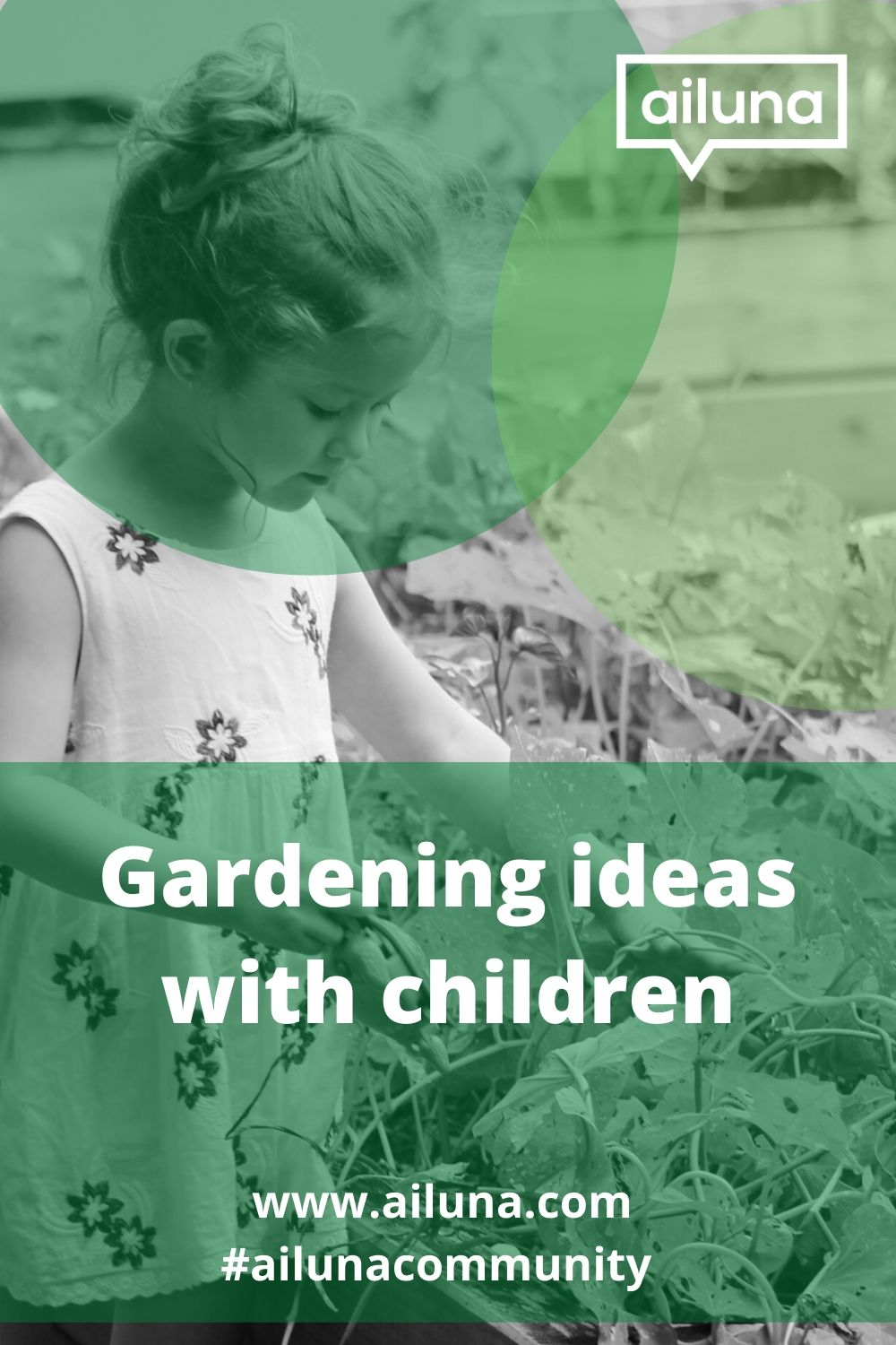 gardening with children pinterest pin