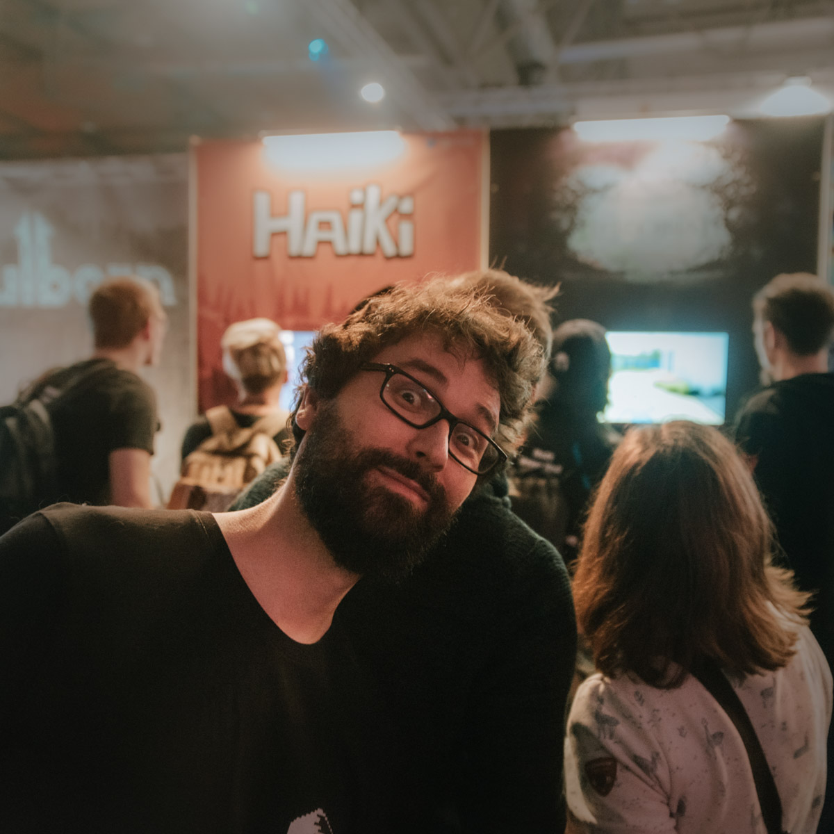 steve smiling at an indoor event
