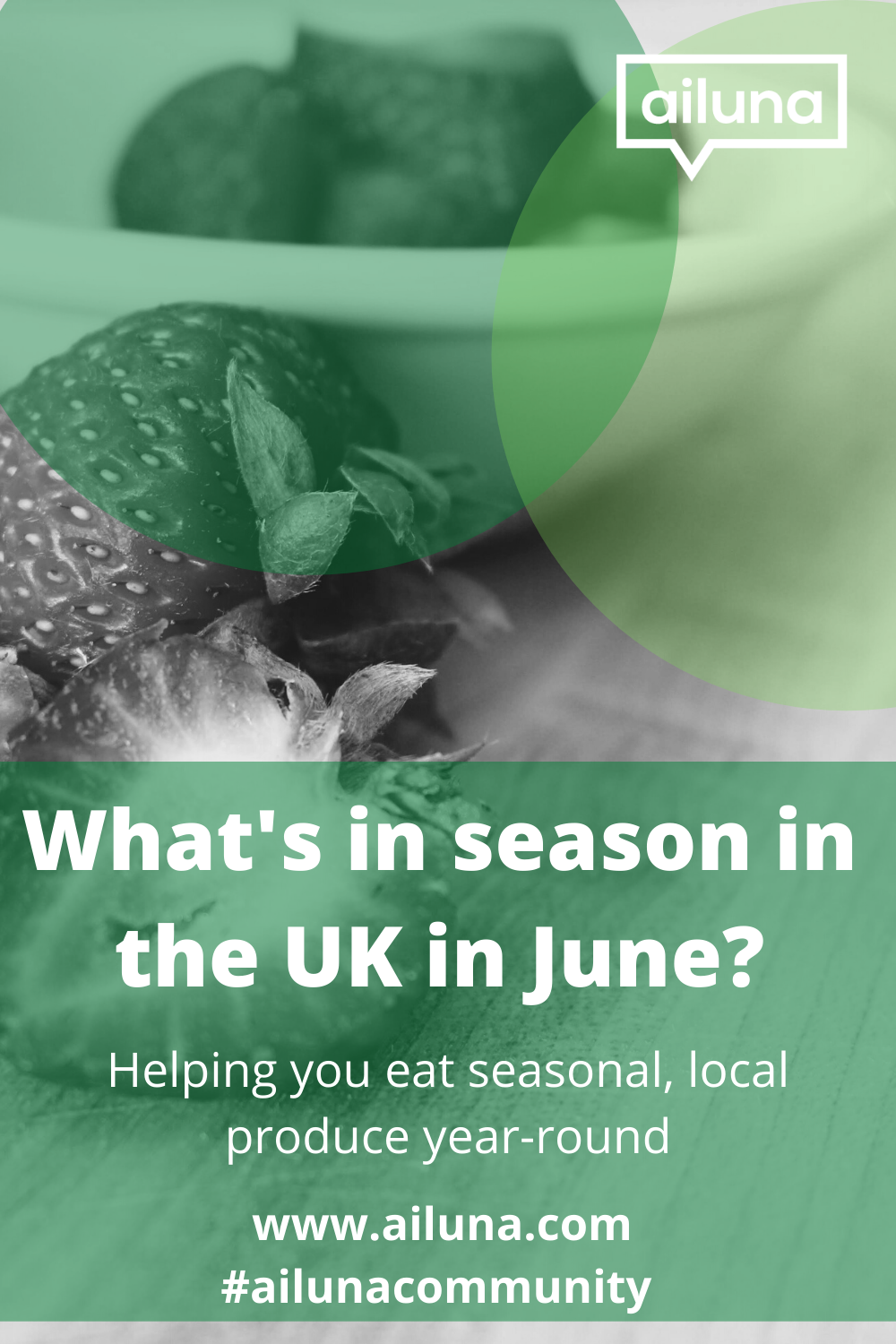 what's in season in the uk in June pinterest pin