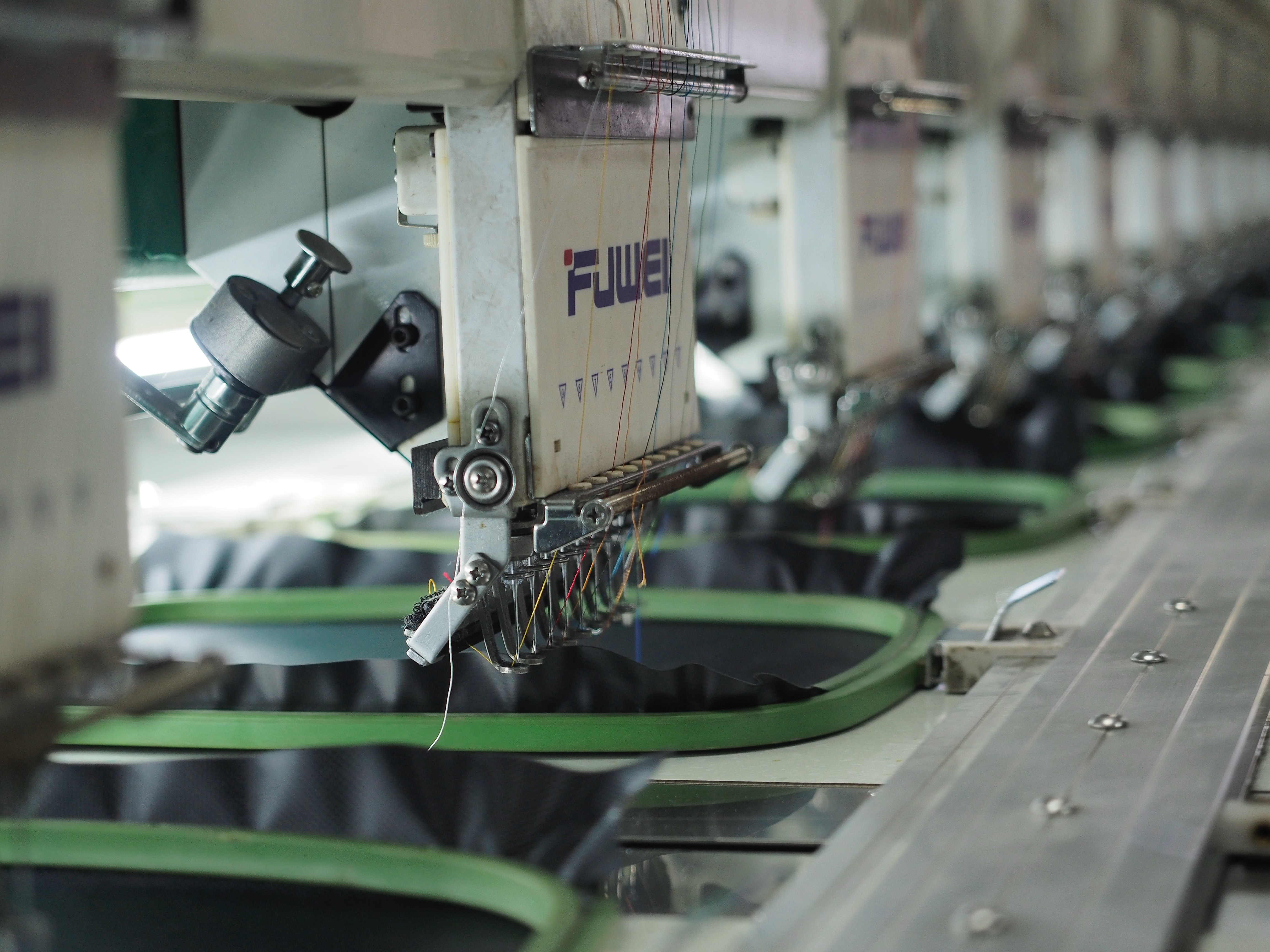 machinery at a clothing factory in Jakarta, Indonesia