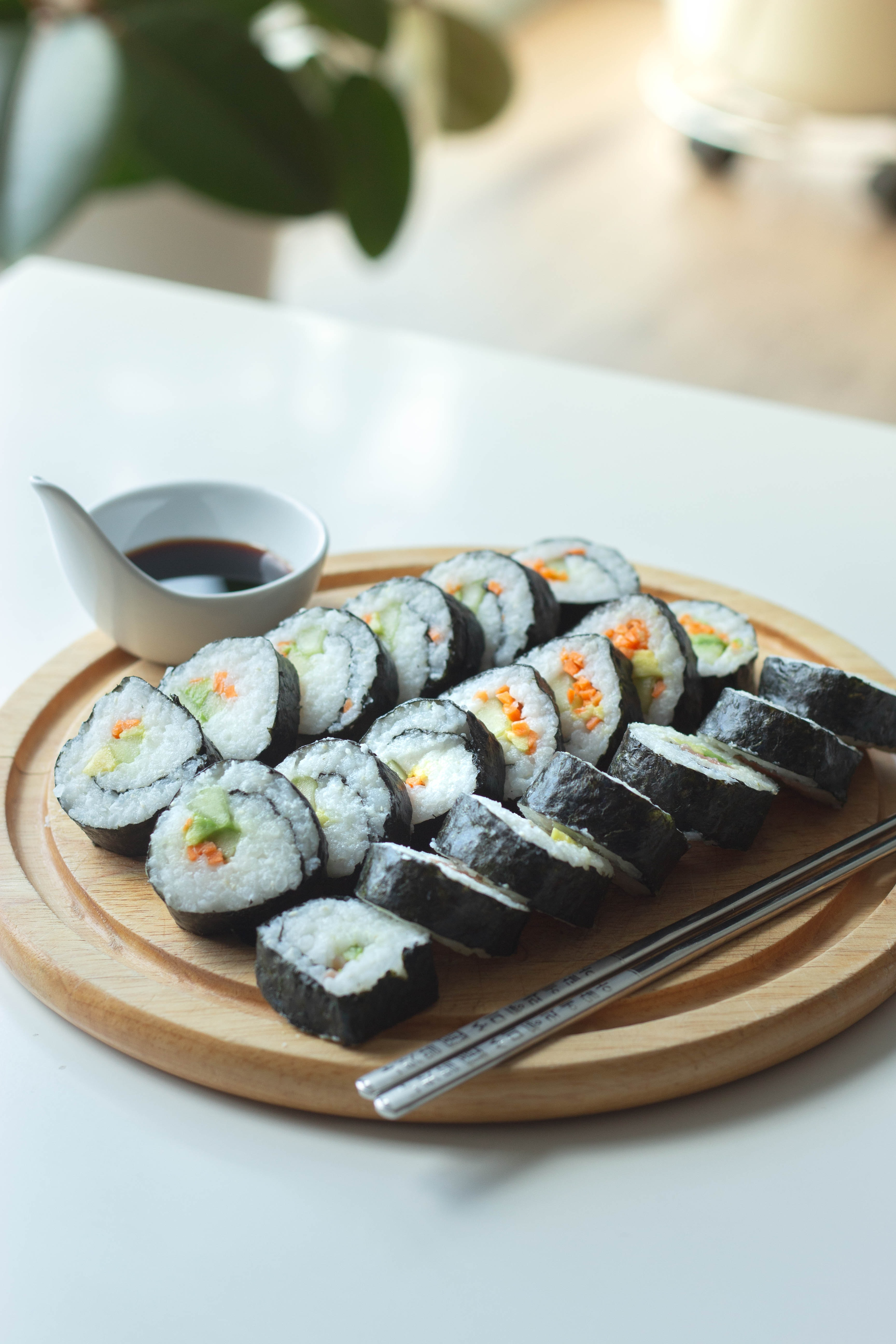 flexitarian sushi - half fish and half fish free