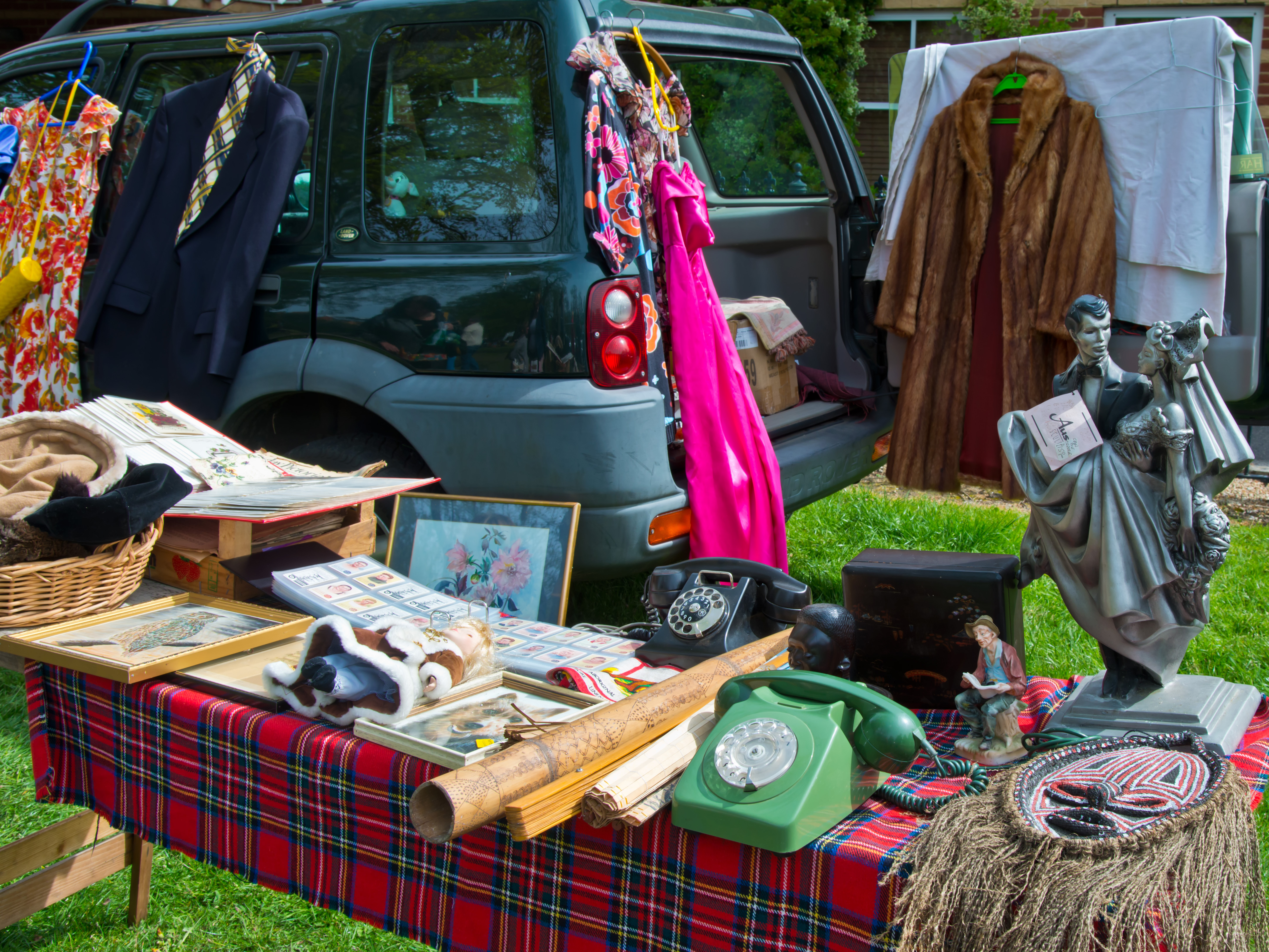 car parked at a car boot sale
