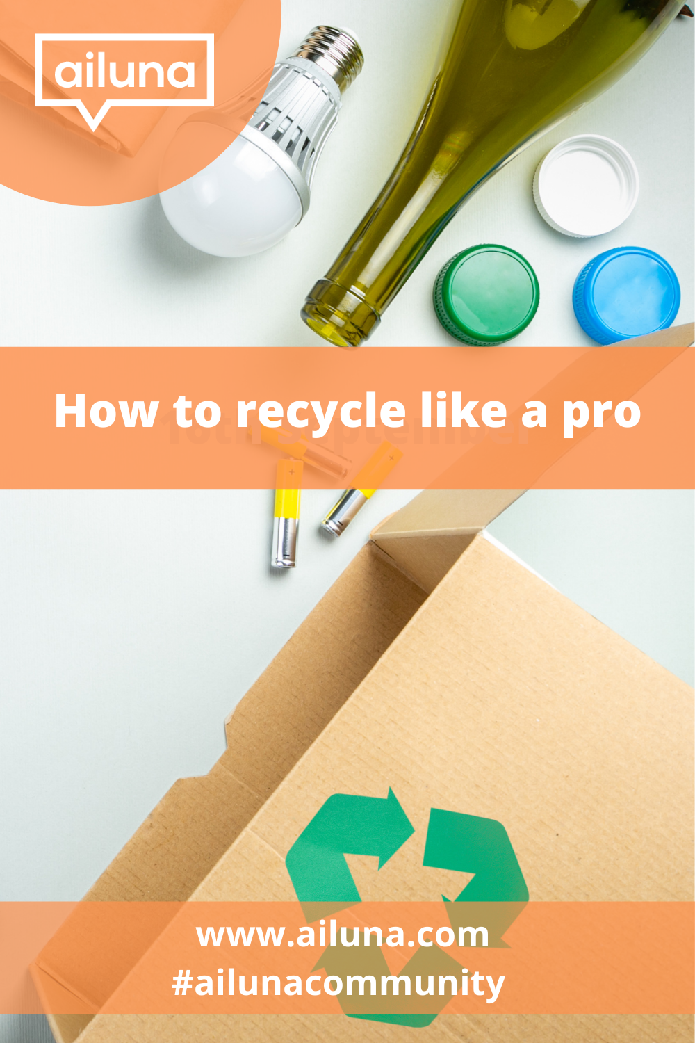 how to recycle like a pro pinterest pin