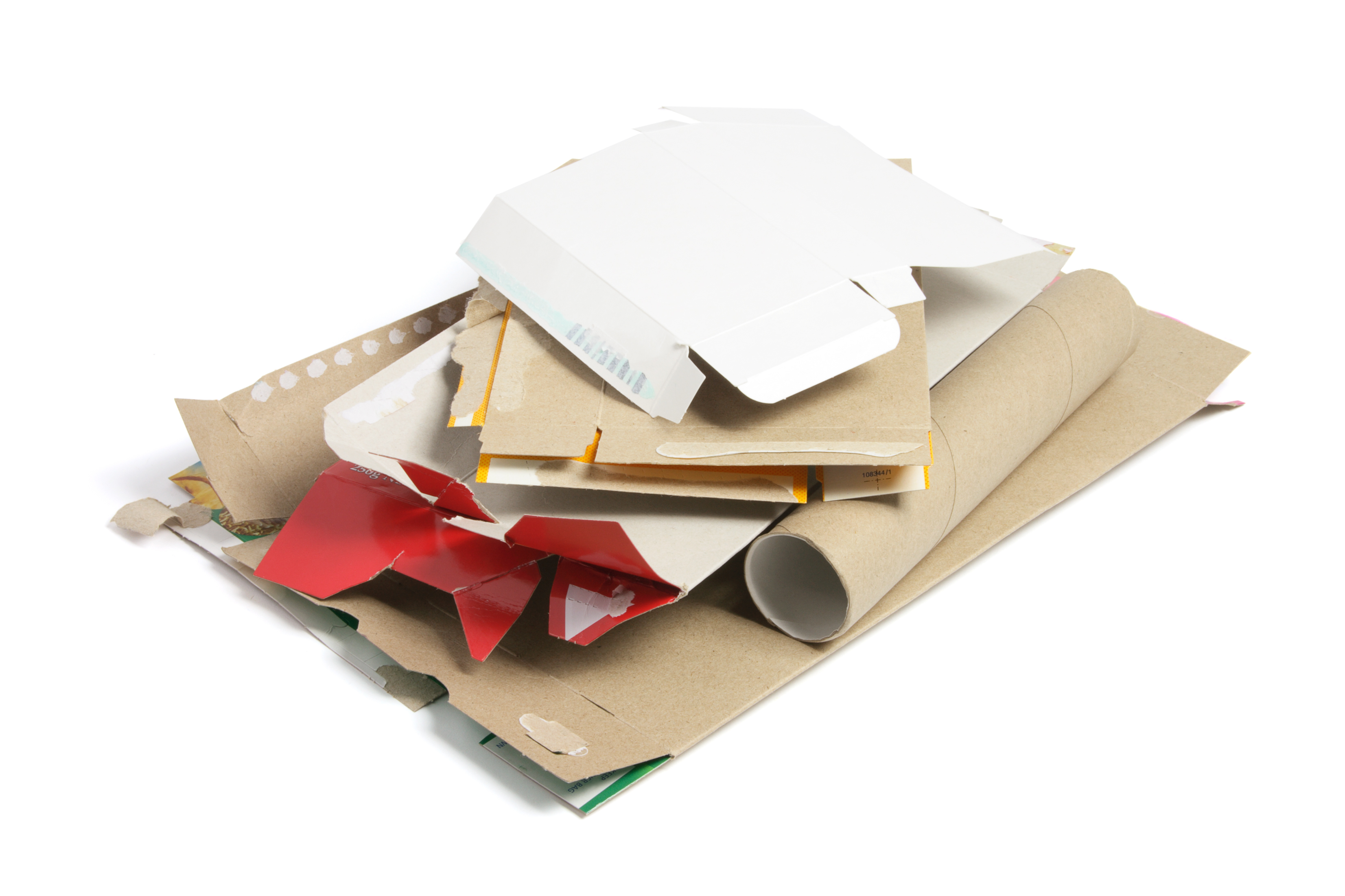 how to recycle cardboard - flatten it first