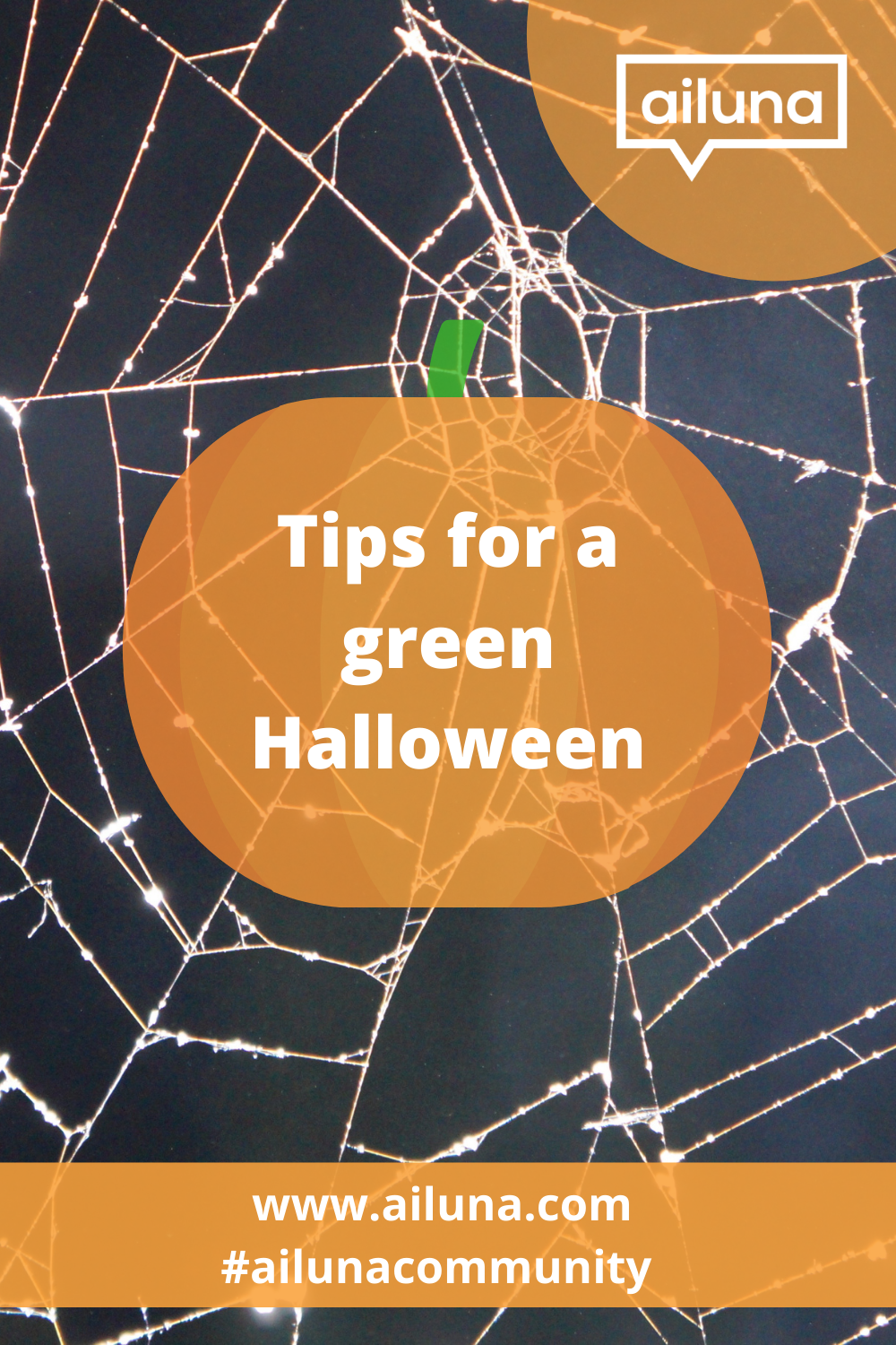 tips for an eco-friendly Halloween pinterest pin