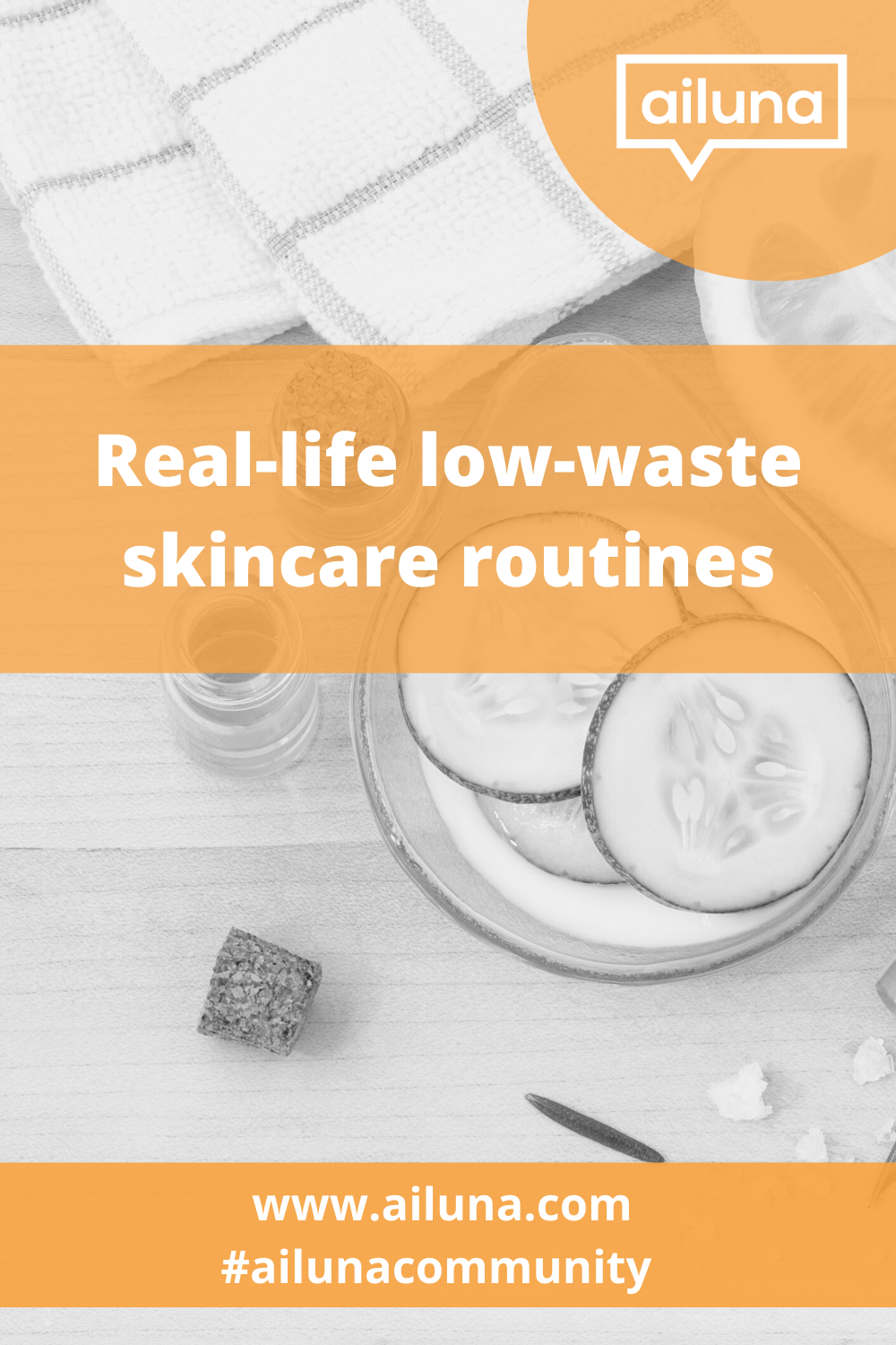 low-waste skincare routine ideas pinterest pin