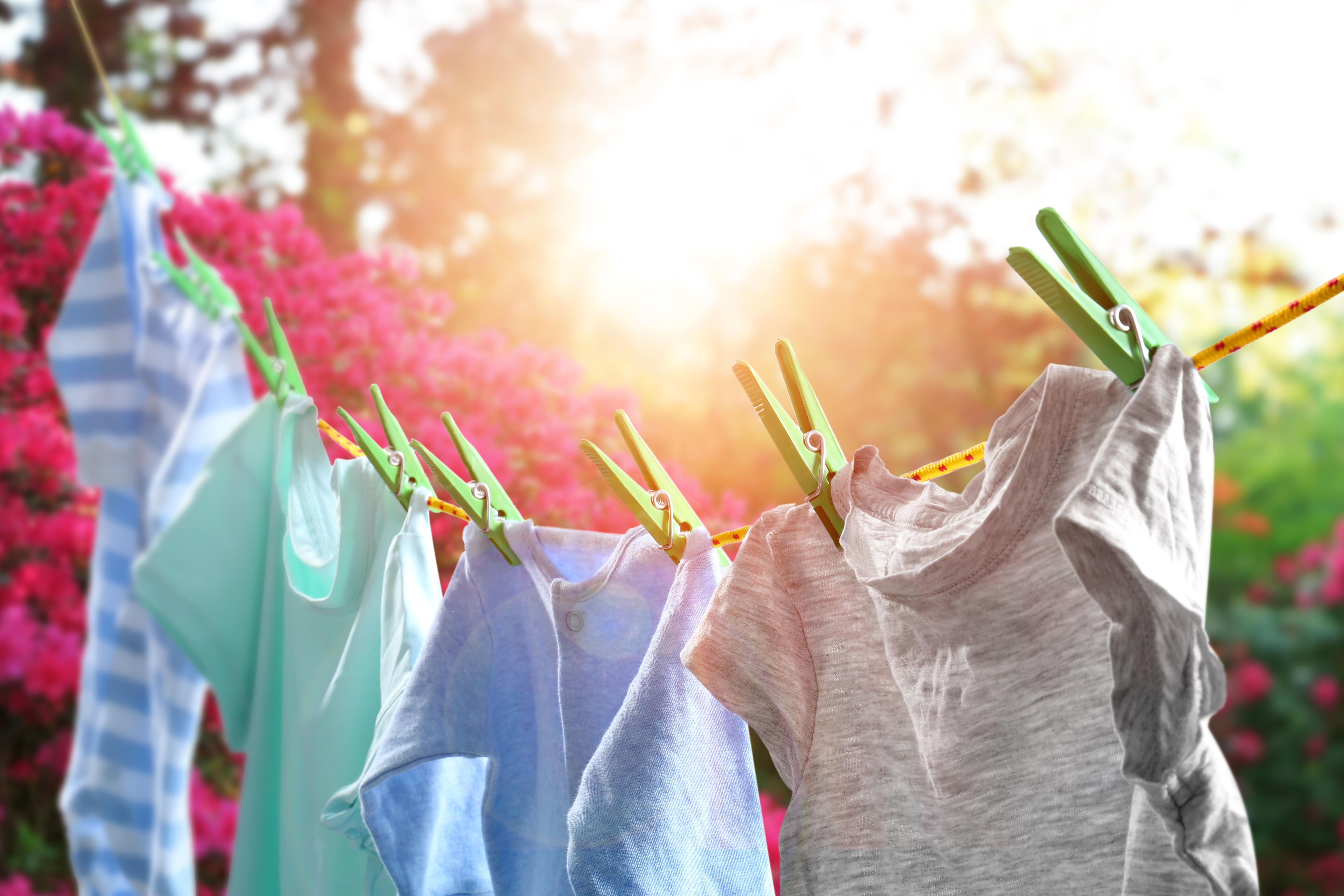 clothes hanging on washing line