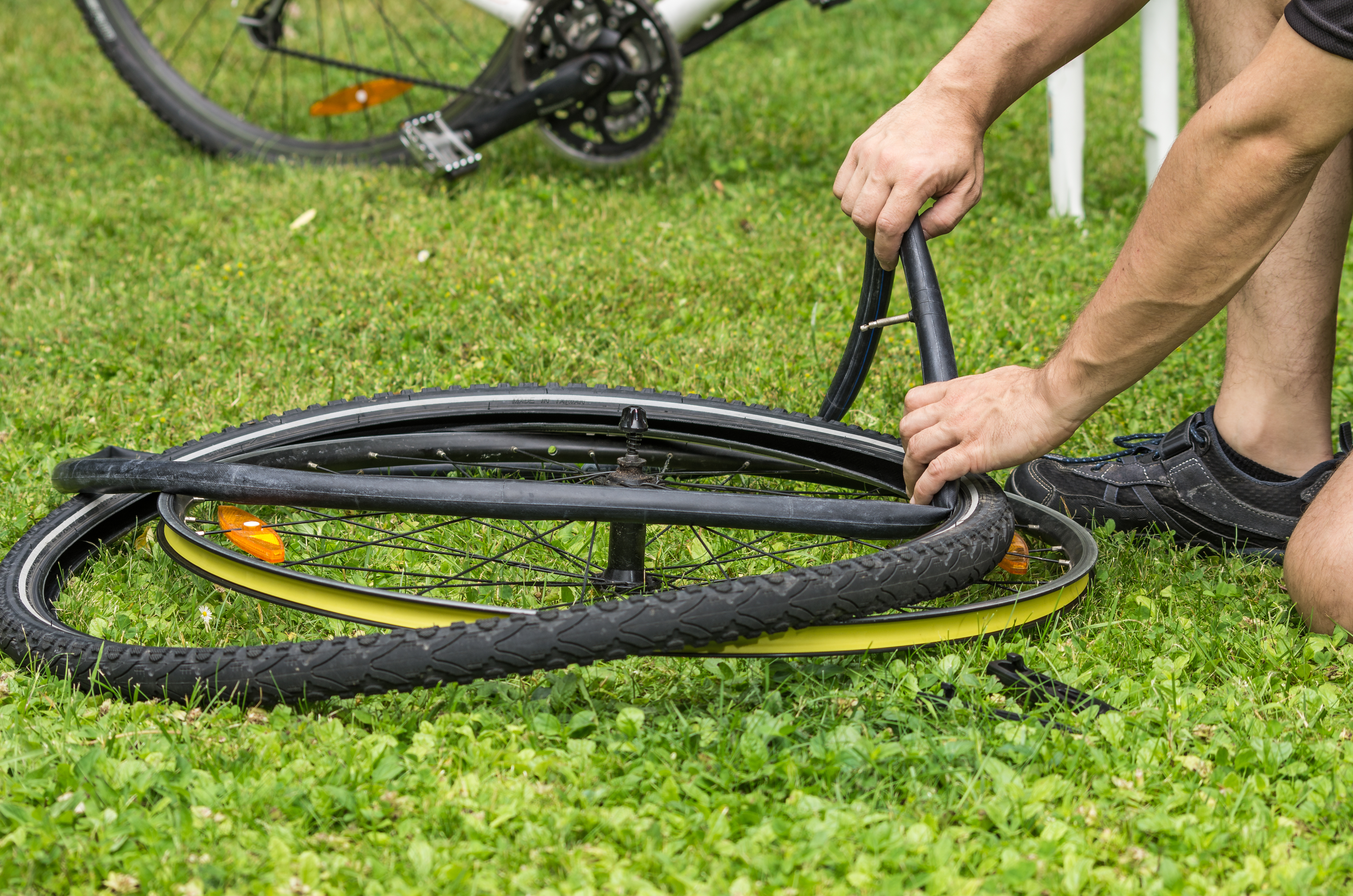 keep your bike eco friendly by repairing punctures rather than replacing tyres