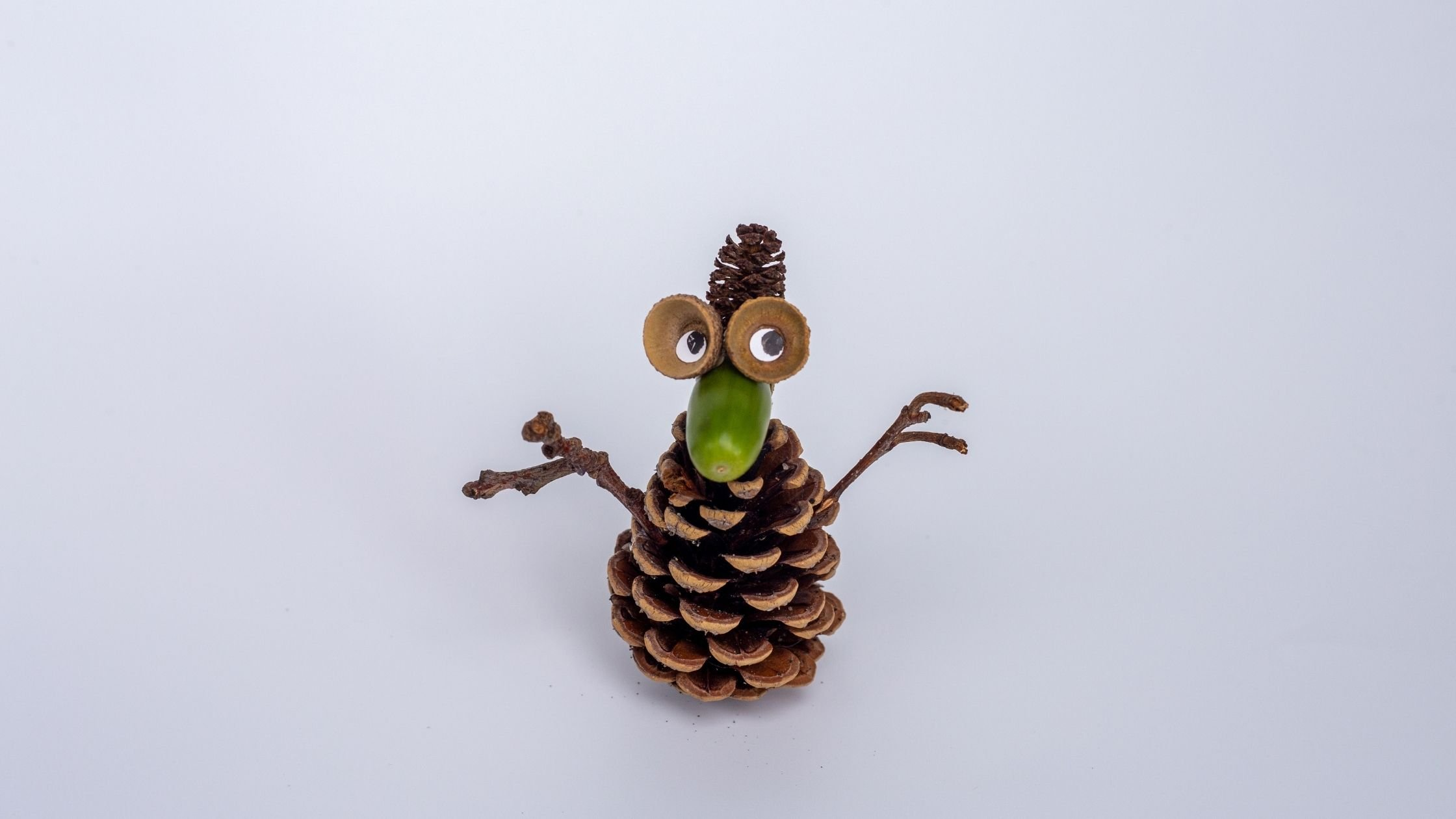 nature craft idea: pine cone characters